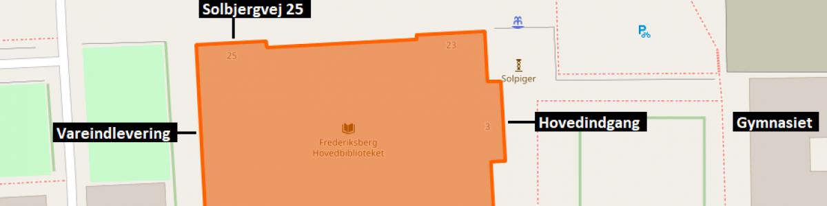 Kort med Hovedbiblioteket