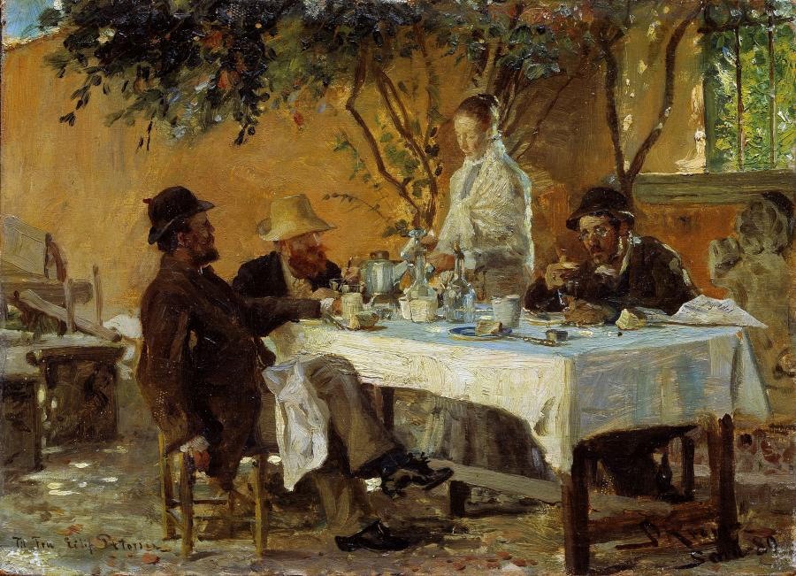 P.S. Krøyer: Frokost i Sora